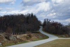 Strada Curvy della montagna fotografie stock libere da diritti