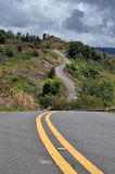 Strada Curvy su Kauai, Hawai Fotografia Stock