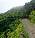 Strada dal bordo della montagna Fotografia Stock