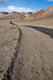 Strada in Death Valley Fotografia Stock