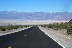 Strada, Death Valley Fotografie Stock