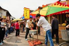 Strada dei negozi antica della Cina fotografie stock libere da diritti