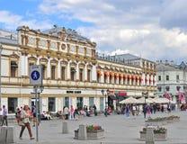 Strada dei negozi di Mosca Immagine Stock