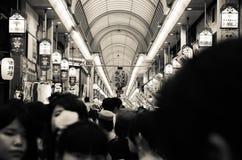 Strada dei negozi di Osaka Fotografie Stock Libere da Diritti