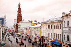 Strada dei negozi a Kazan Fotografia Stock