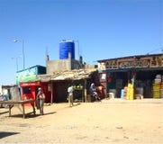 Strada dei negozi a N'Djamena, Repubblica del Chad Fotografie Stock Libere da Diritti