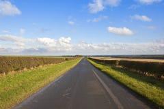 Strada dei wolds di Yorkshire Fotografia Stock