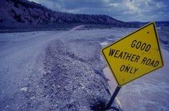Strada del buon tempo Fotografia Stock