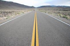 Strada del Death Valley Fotografie Stock