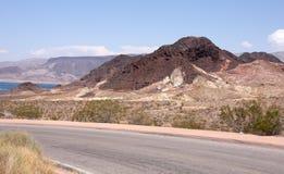 Strada del deserto Immagini Stock Libere da Diritti