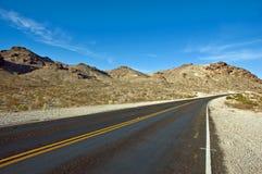 Strada del deserto Fotografia Stock