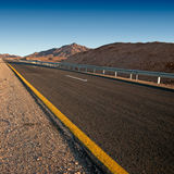 Strada del deserto Fotografia Stock Libera da Diritti