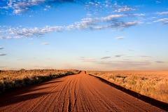 Strada del deserto Fotografie Stock Libere da Diritti