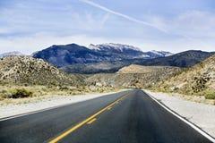Strada del deserto Immagini Stock