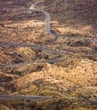 Strada del deserto di bobina Fotografia Stock