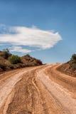 Strada del drit del deserto, Utah Fotografia Stock