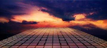 Strada del fuoco nel cielo Fotografia Stock