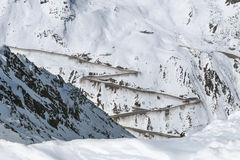 Strada del ghiacciaio di Oetztal, Austria Immagini Stock Libere da Diritti