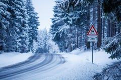 Strada del ghiaccio fotografia stock