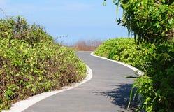 Strada del giardino al DUA Bali di Nusa Fotografia Stock Libera da Diritti