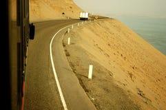 Strada del litorale Fotografia Stock