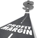 Strada del margine di guadagno che va su aumentare reddito netto Fotografie Stock Libere da Diritti