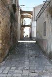 Strada del mattone di Bernalda Italia Immagini Stock