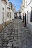 Strada del mattone di Bernalda Itlay Fotografia Stock