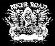 Strada del motociclista Fotografia Stock Libera da Diritti