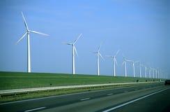 Strada del mulino a vento - granulo visibile della pellicola Fotografia Stock