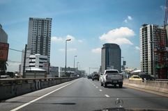 Strada del passaggio della città di Bangkok Immagine Stock Libera da Diritti