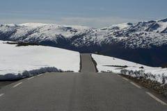 Strada del passaggio di montagna Immagini Stock Libere da Diritti