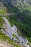 Strada del passaggio di Susten, Svizzera Immagine Stock