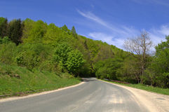 Strada del passo di montagna del Balcani Fotografia Stock
