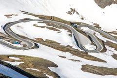 Strada del passo di montagna di bobina Immagini Stock