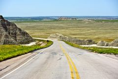 Strada del Sud Dakota fotografia stock