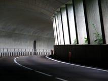 Strada del tunnel in alpi Fotografia Stock Libera da Diritti