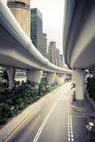 Strada del viadotto della città Immagini Stock Libere da Diritti