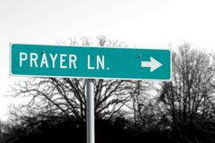Strada del vicolo di preghiera Immagine Stock