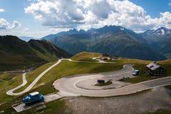 Strada dell'alta montagna Fotografia Stock