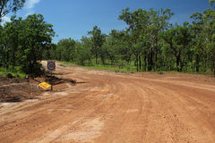 Strada dell'australiano outback Immagine Stock