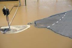 Strada dell'inondazione a Brisbane Immagini Stock Libere da Diritti