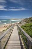 Strada dell'oceano della spiaggia della spuma di Torquay grande Fotografie Stock
