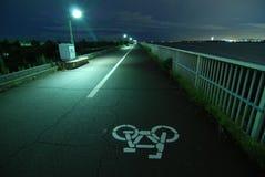 Strada della bicicletta Fotografia Stock