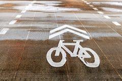 Strada della bicicletta Immagine Stock Libera da Diritti