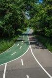 Strada della bicicletta nel parco immagine stock libera da diritti