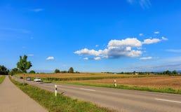 Strada della campagna in Svizzera Immagine Stock