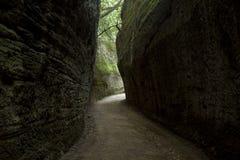 Strada della caverna di etrusco Fotografia Stock