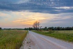 Strada della contea del Missouri Fotografia Stock