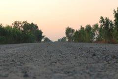 Strada della costruzione Fotografia Stock